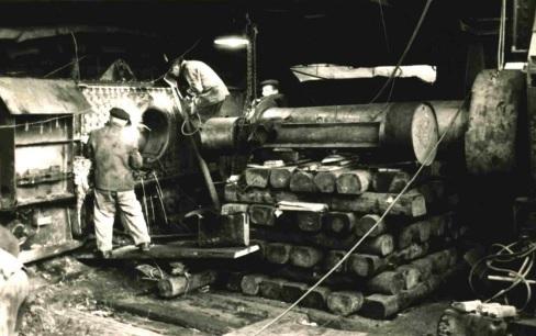 Bergarbeiter im Stollen
