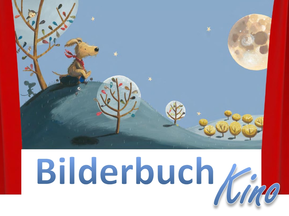 Bilderbuch Plakat blau