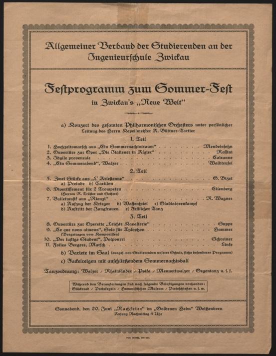 Sommerfest, um 1913