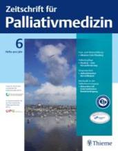 Titelbild der Zeitschrift für Palliativmedizin