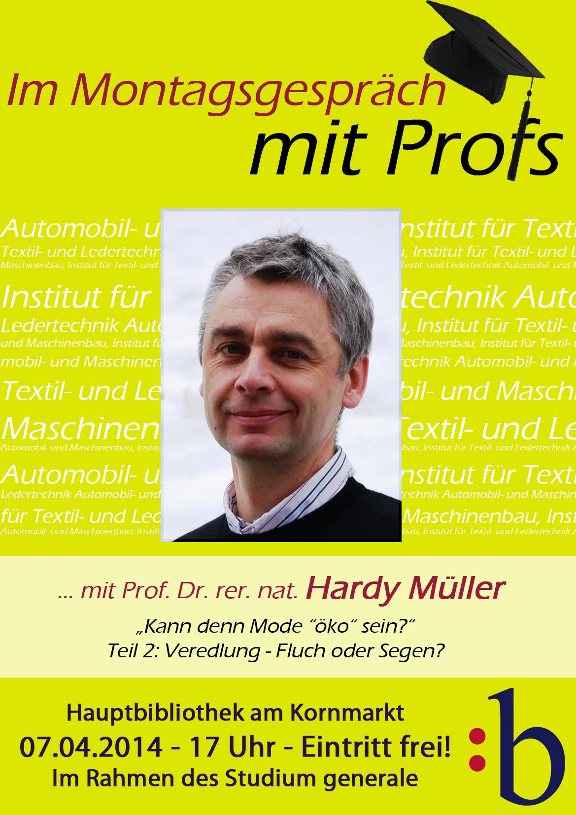Plakat Prof. Hardy Müller